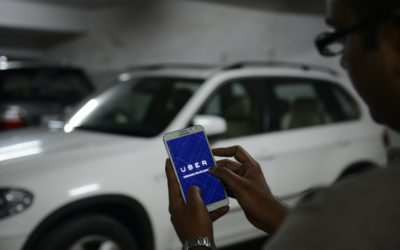 BENGALURU, INDIA - OCTOBER 01: UBER cabs booking using mobile app on October 01 2015 in Bengaluru, India. (Photo by Hemant Mishra/Mint via Getty Images)